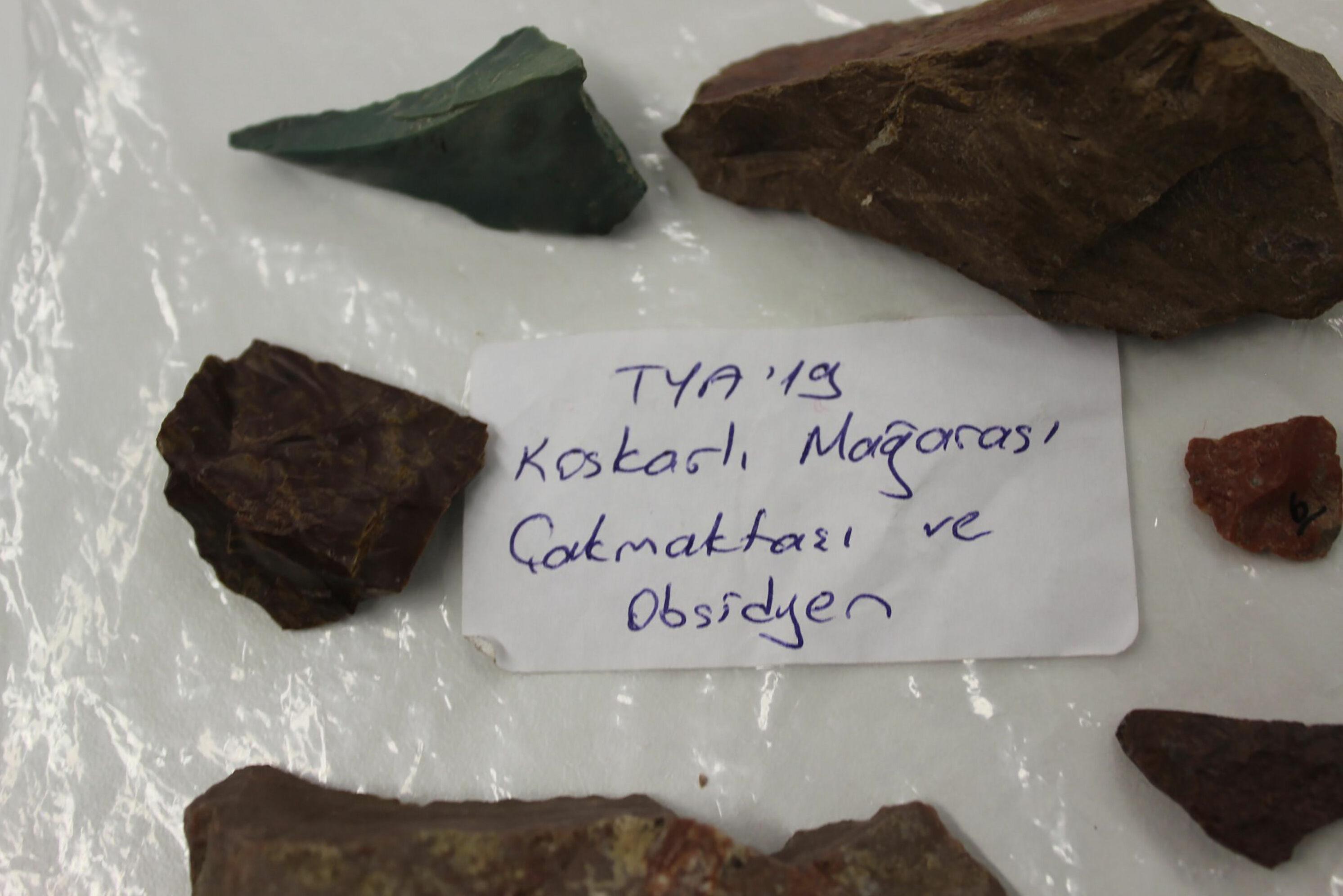 Trabzon'da M.Ö. 11 bin yılına ait ilk insanların kullandığı taş aletler bulundu